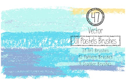 Vector Oil Pastels Brushes