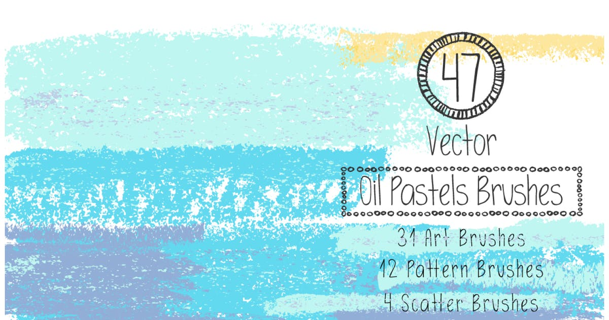 Download Vector Oil Pastels Brushes by AnnaIvanir