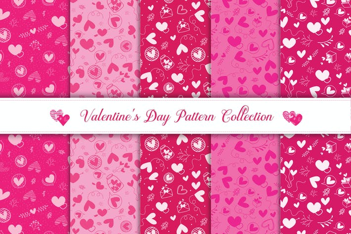 Valentine's day pattern collection v2