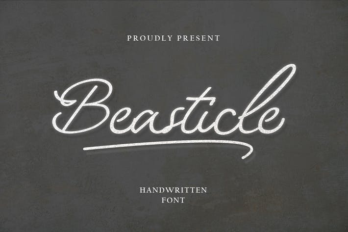 Cover Image For Beasticle Handwritten Style
