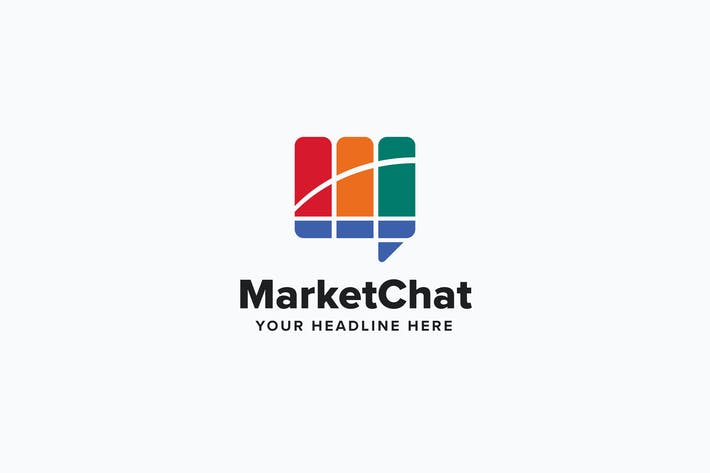 Cover Image For Market Chat Logo Template