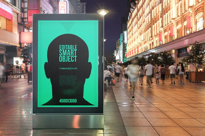 Thumbnail for Urban Poster-Billboard Maqueta - Edición Nocturna #1