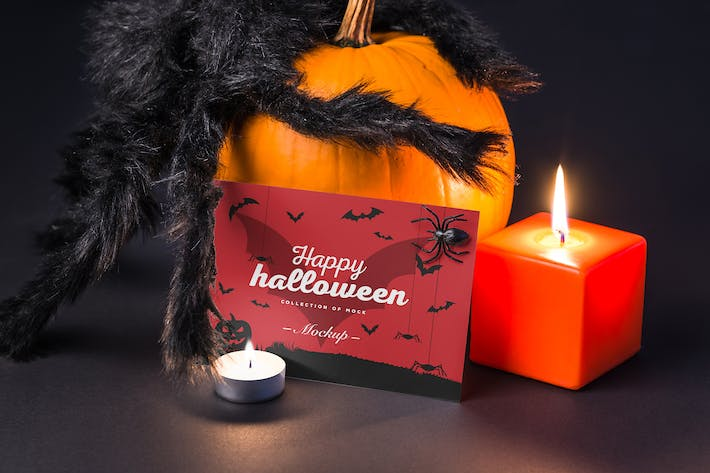 Cover Image For Halloween Card Mock-up
