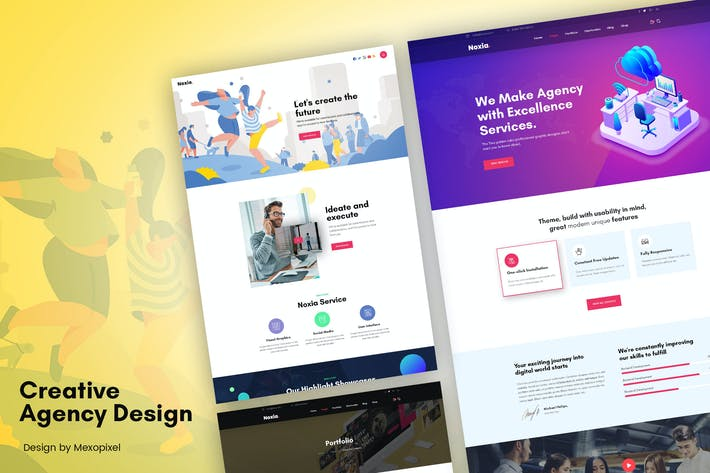 Thumbnail for Creative Portfolio Agency, Services Template