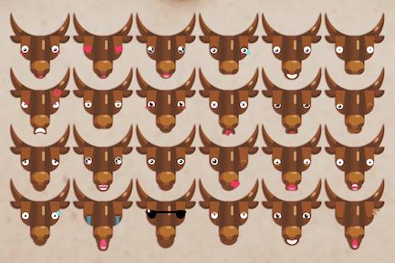 Stier Emoji Set