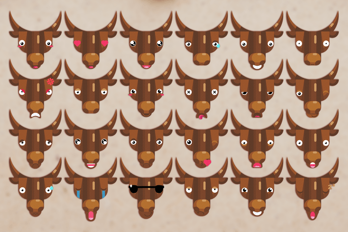 Thumbnail for Bull Emoji Set