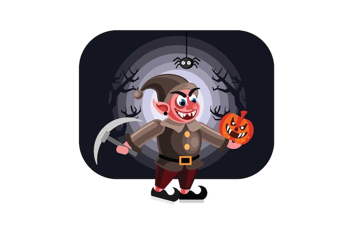 Cover Image For Evil Dwarf Halloween Character