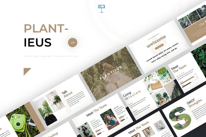 Thumbnail for Plantieus - Keynote Template