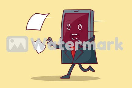 Smartphone in a suit
