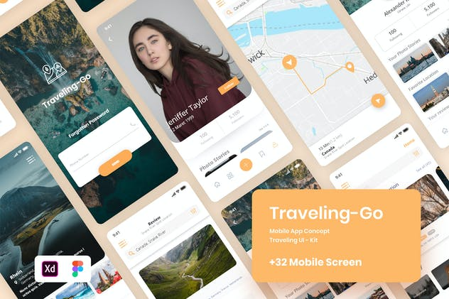 Traveling-Go UI Kit