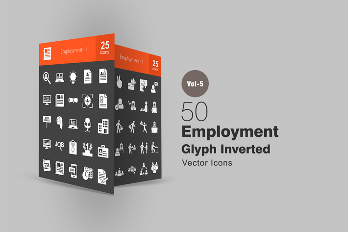 Thumbnail for 50 Employment Glyph Inverted Icons