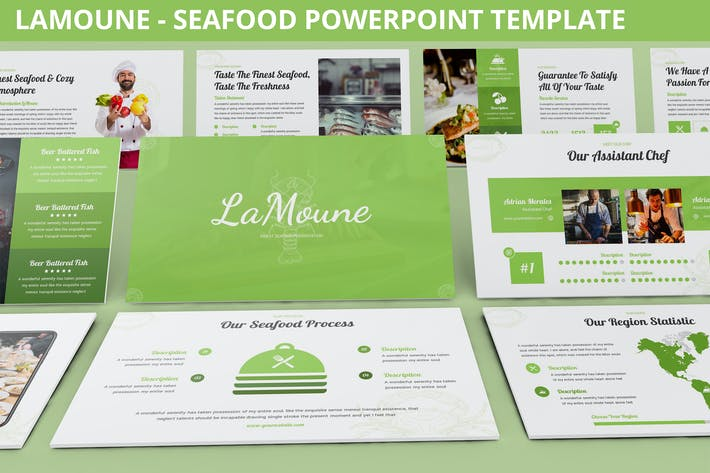 Thumbnail for LaMoune - Seafood Powerpoint Template