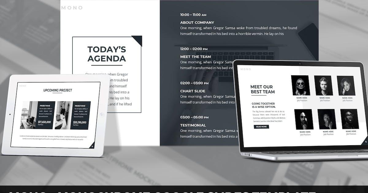 Download Mono - Monochrome Google Slides Template by SlideFactory
