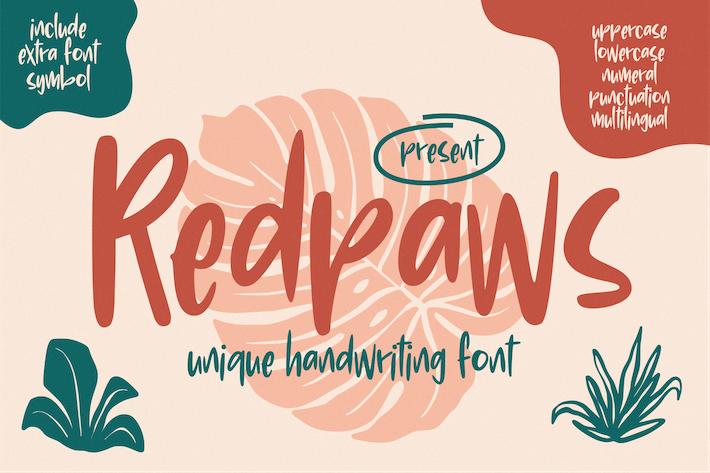 Redpaws Handwriting