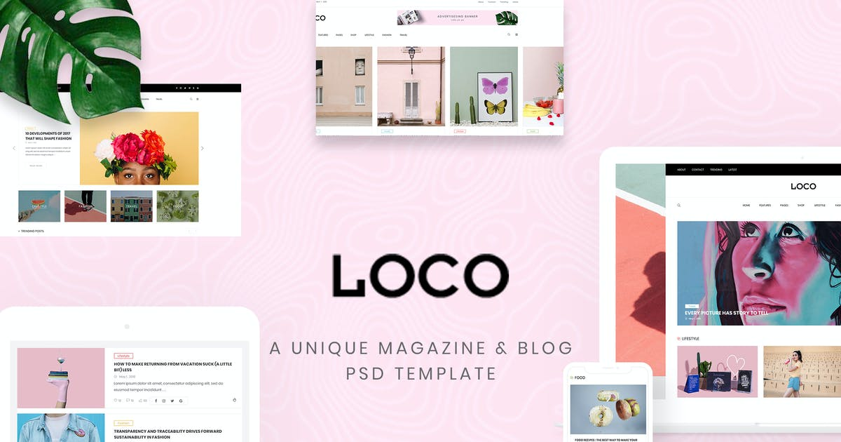 Download Loco - Fashion Magazine & Shop PSD Template by AuThemes