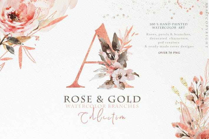 Thumbnail for Rose gold wedding collection