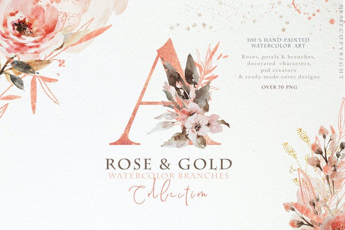 Cover Image For Rose gold wedding collection