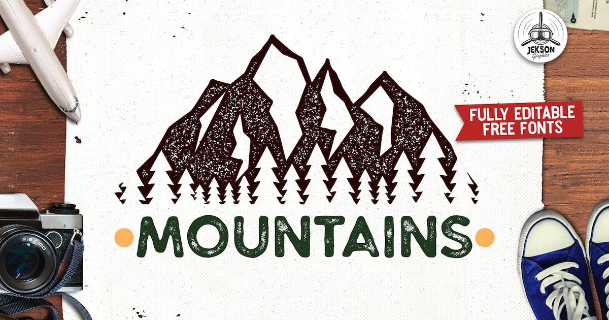 Download Mountain Adventure Logo, Wild Retro Print Shirt by JeksonJS