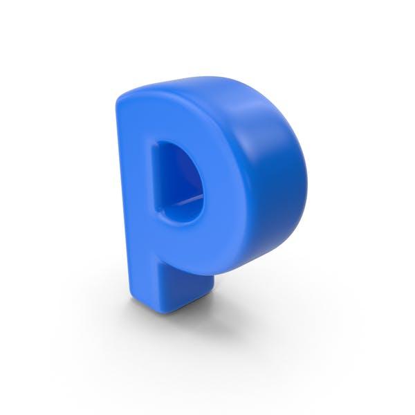 Синяя буква P