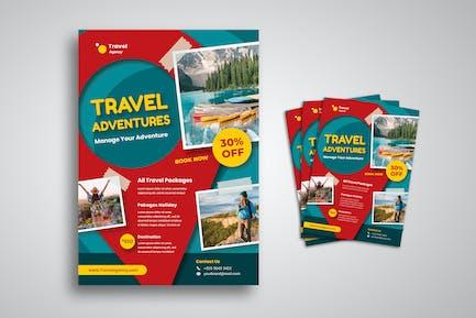 Reise-Urlaub Flyer
