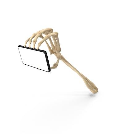Skeleton Hand Gripping a Smartphone Mockup