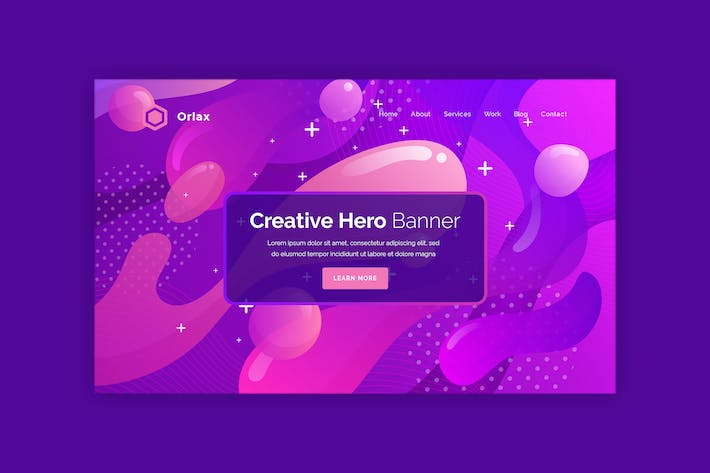 Thumbnail for Orlax  - Hero Banner Template