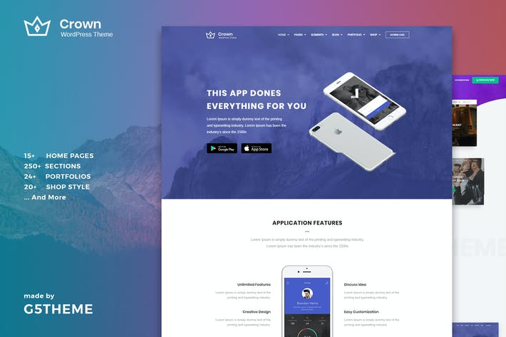 Thumbnail for Crown - Multi Purpose WordPress Theme