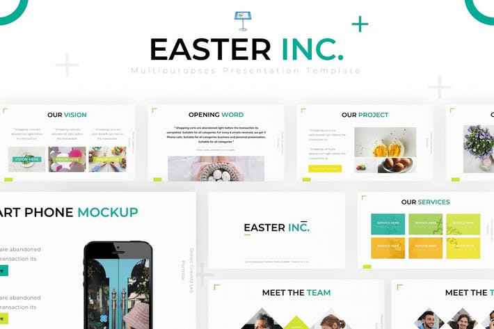 Thumbnail for Easter Inc - Keynote Template