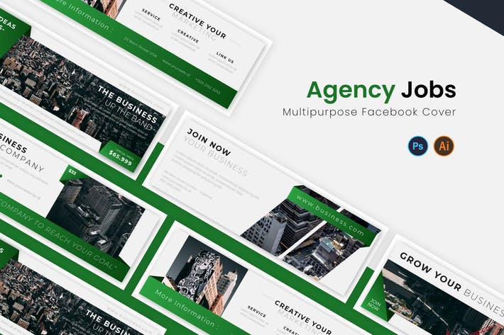 Thumbnail for Agency Jobs Facebook Cover