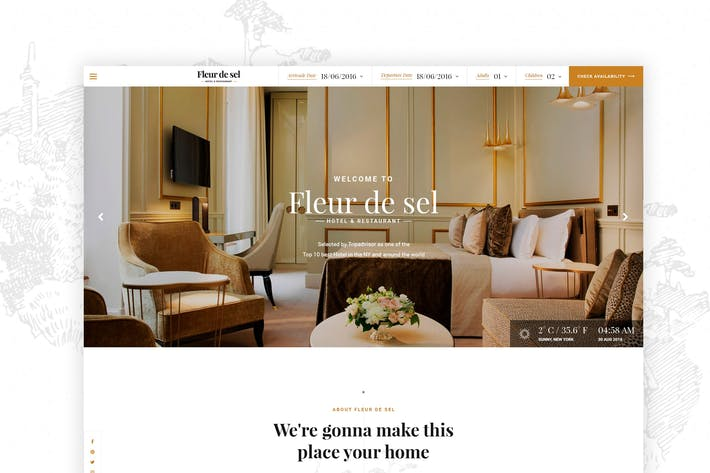 Thumbnail for Fleurdesel - Hotel Buchung WordPress Thema