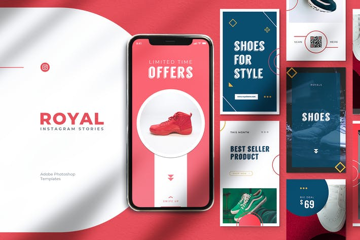 Thumbnail for ROYALS Shoes Store Promotion Instagram Stories