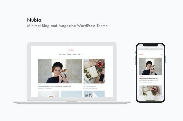 Nubia - Minimal Blog and Magazine WordPress Theme