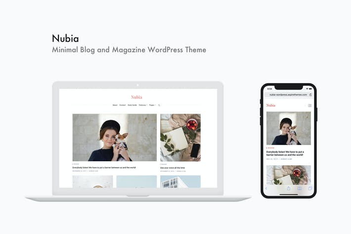 Thumbnail for Nubia - Minimal Blog and Magazine WordPress Theme
