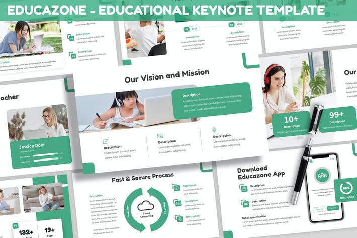 Thumbnail for Educazone - Educational Keynote Template