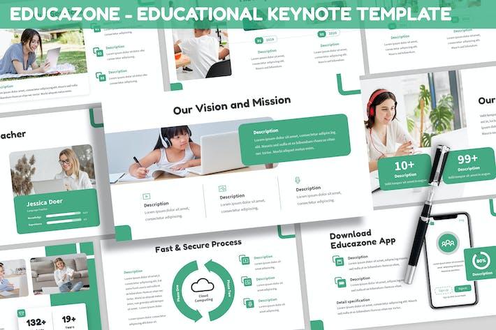 Thumbnail for Educazone - Educational Keynote Template