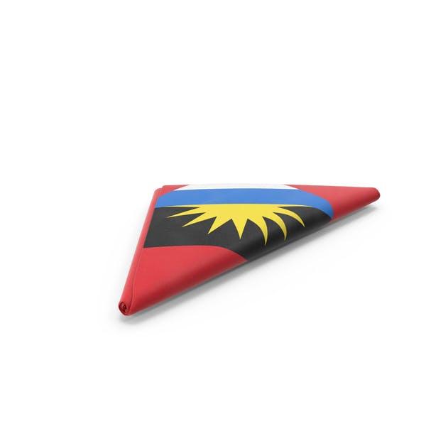 Flag Folded Triangle Angola