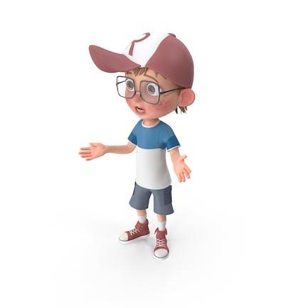 Cartoon Junge verloren