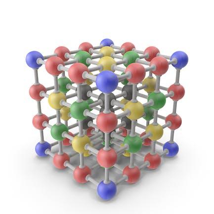 Estructura de molécula 3D