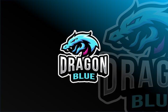 Thumbnail for Dragon Blue Esport Logo Template