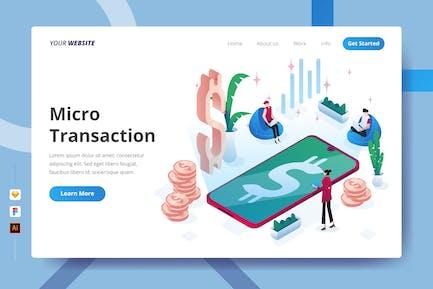 Micro Transaction - Landing Page