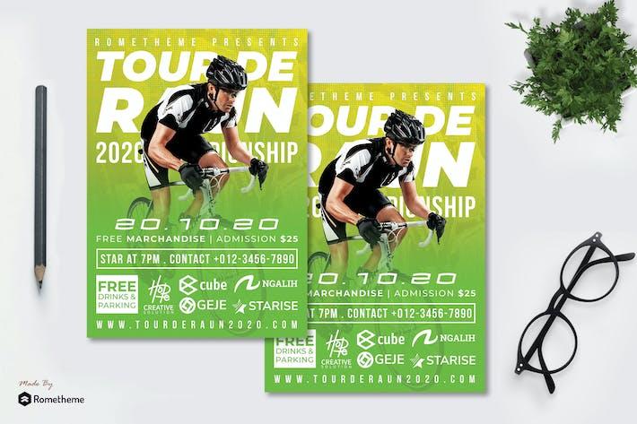 Thumbnail for Tour de Raun Flyer - Race Flyer RB