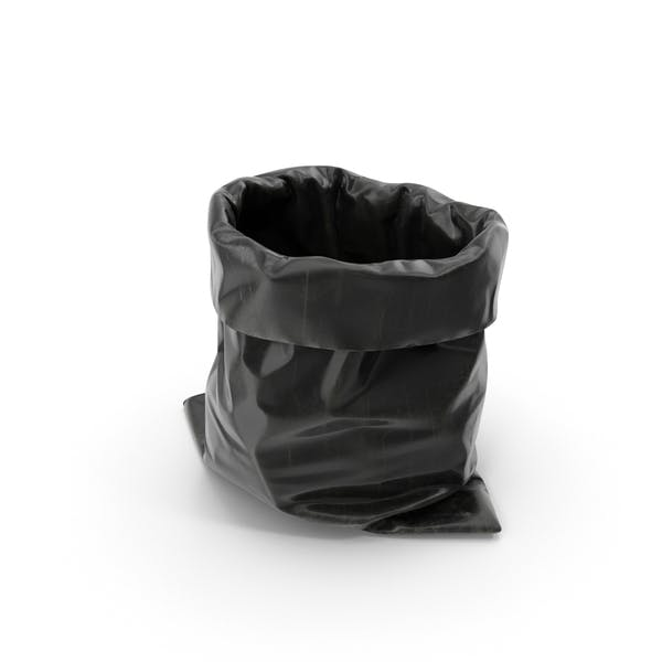 Черный мешок для мусора