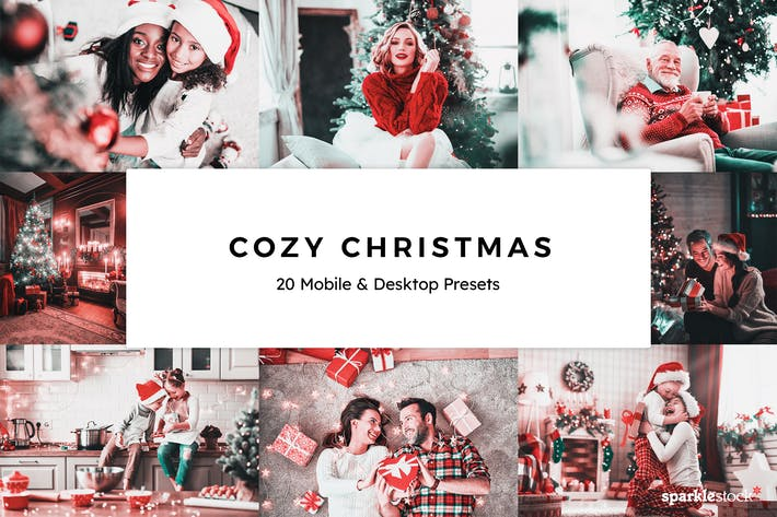 Thumbnail for 20 Cozy Christmas Lightroom Presets & LUTs