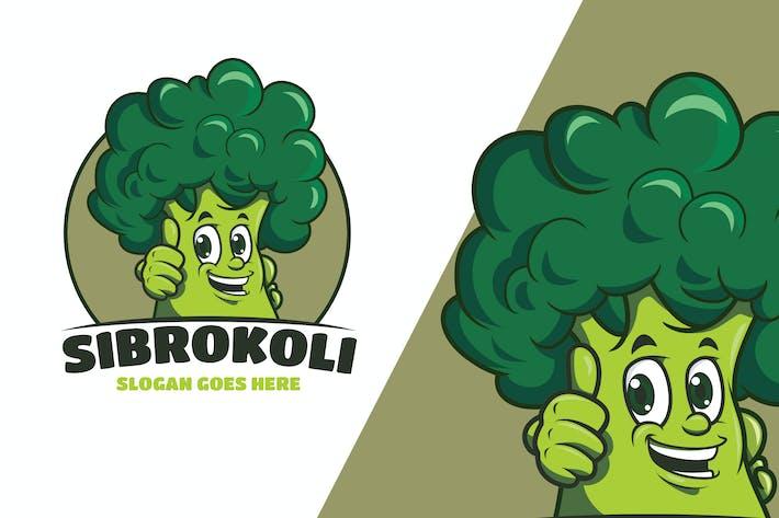 Thumbnail for Broccoli Mascot Logo Template