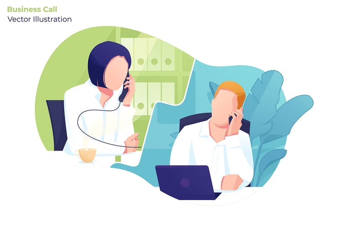 Thumbnail for Business Call - Vector Illustration