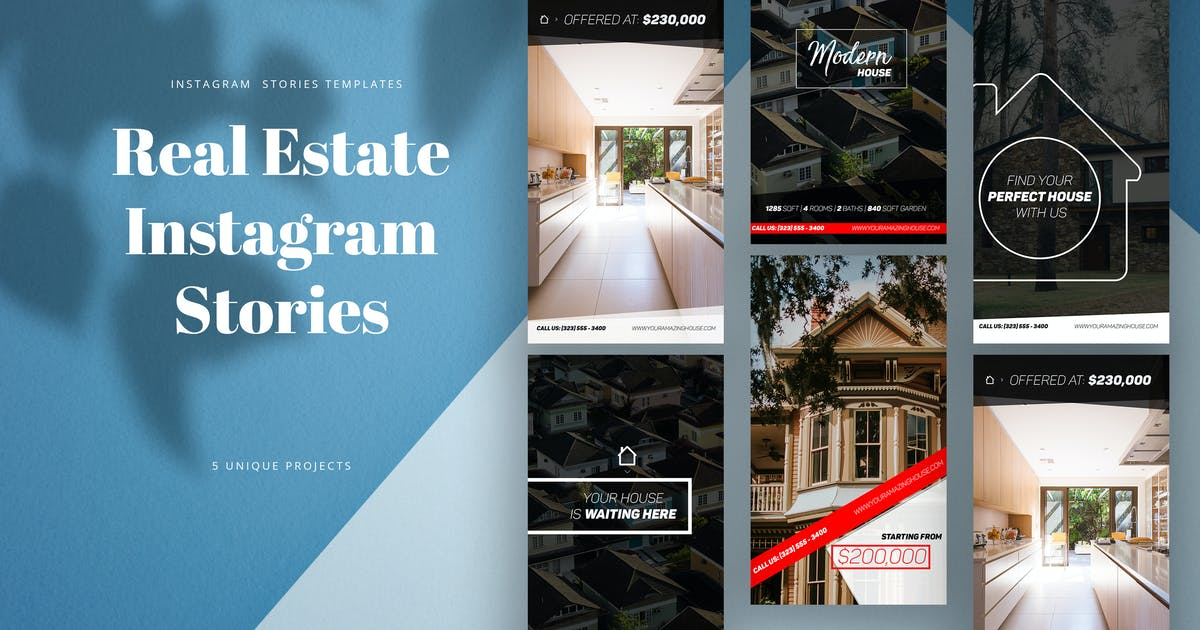 Real Estate Instagram Stories By Kahuna Design On Envato Elements