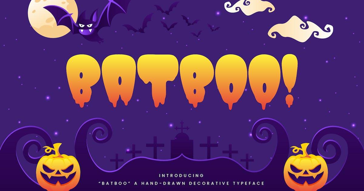 Download Batboo! - Hand Drawn Decorative Halloween Typeface by naulicrea