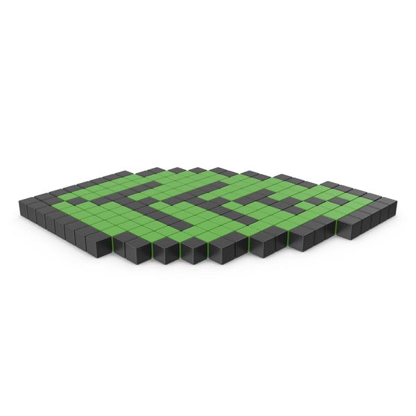 Eco Green Leaf Pixelated Icon Interface