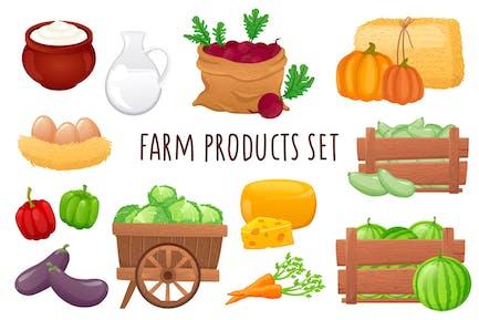 Farm Products Realistic 3D Elements