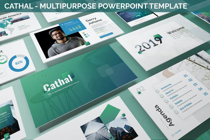 Thumbnail for Cathal - Multipurpose Powerpoint Template